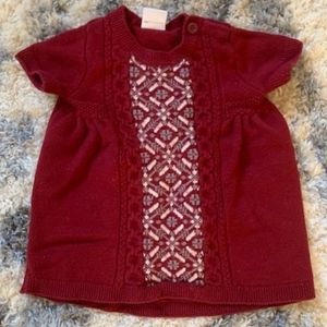 Maroon Hanna Andersson Sz 70 Holiday Sweater Dress
